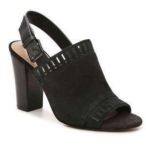 Tahari Maya Black Suede Sandal 🌿